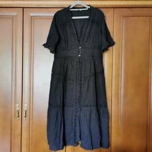 Aqua Long lace dress
